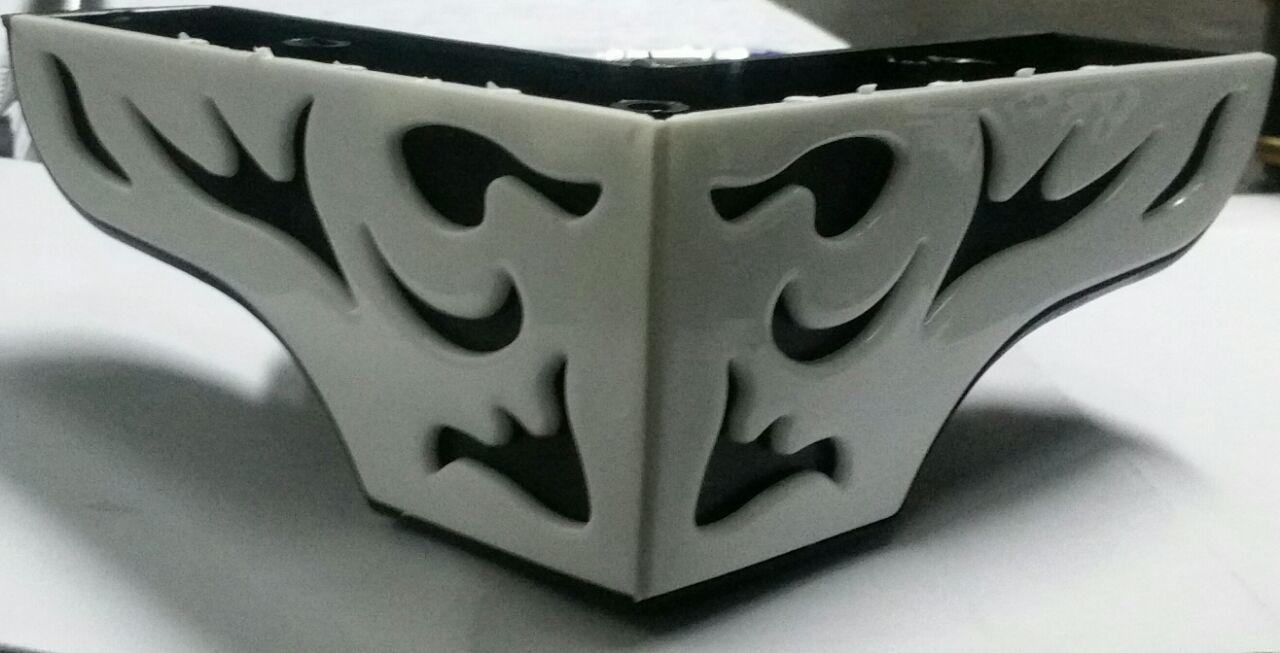 پایه مبل ال برگی مشکی سفید
