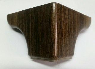 پایه مبل ال تاج دار ۸ سانت طرح چوب