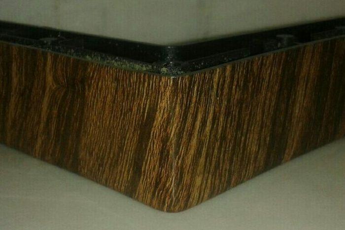 پایه مبل ال ساده طرح چوب ارتفاع ۳ سانت طول ۱۴٫۵