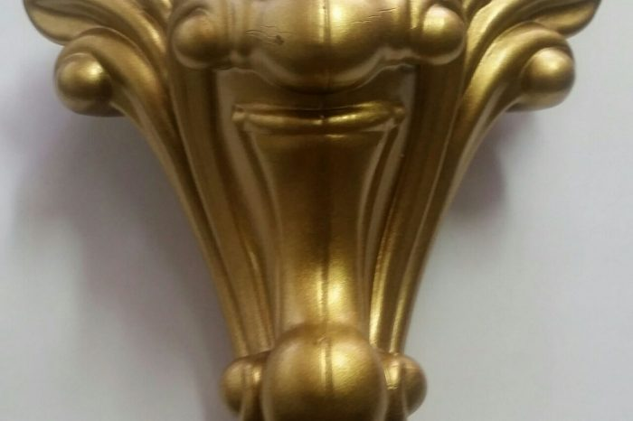 پایه مبل پایه رز طلایی پودری
