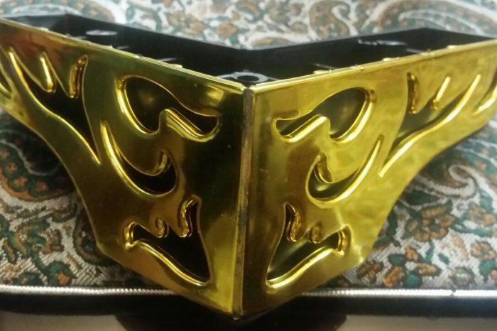 پایه مبل ال برگی مشکی طلایی