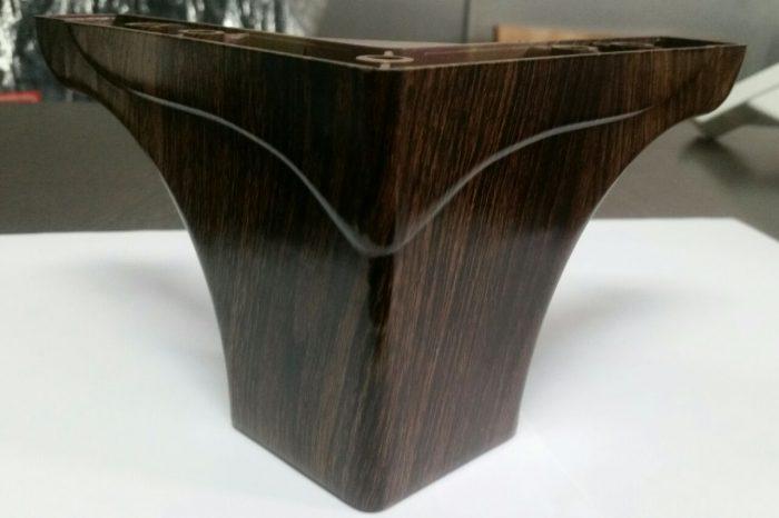 پایه مبل ال تاج دار ۱۰ سانت طرح چوب